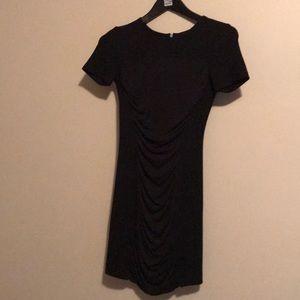 Theory short sleeve black dress